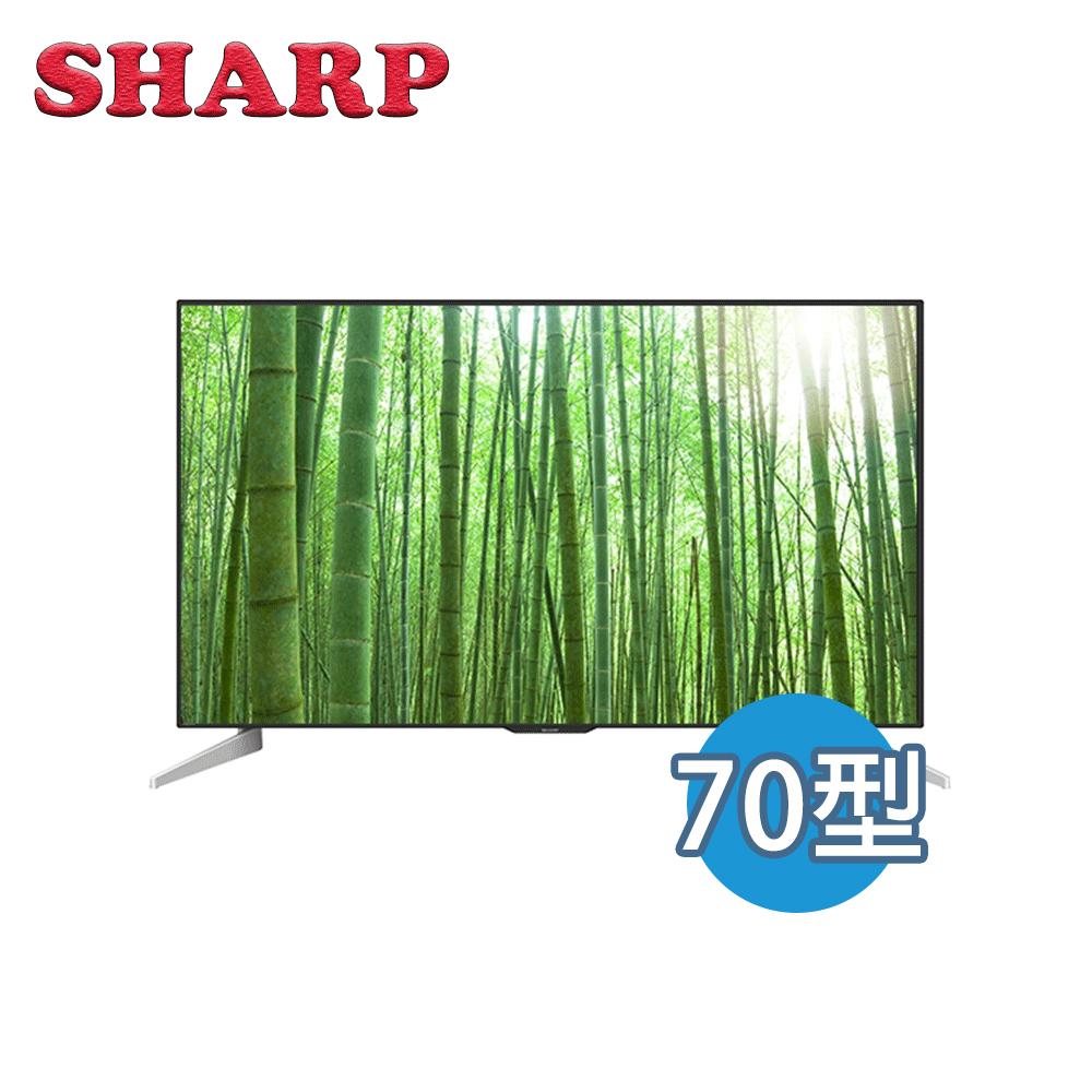 【SHARP 夏普】70吋 夏普 4K 智慧連網 液晶電視 LC-70U33JT