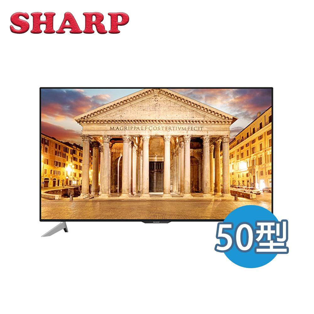 【SHARP 夏普】50吋 夏普 4K 智慧連網 液晶顯示器 LC-50UA6500T