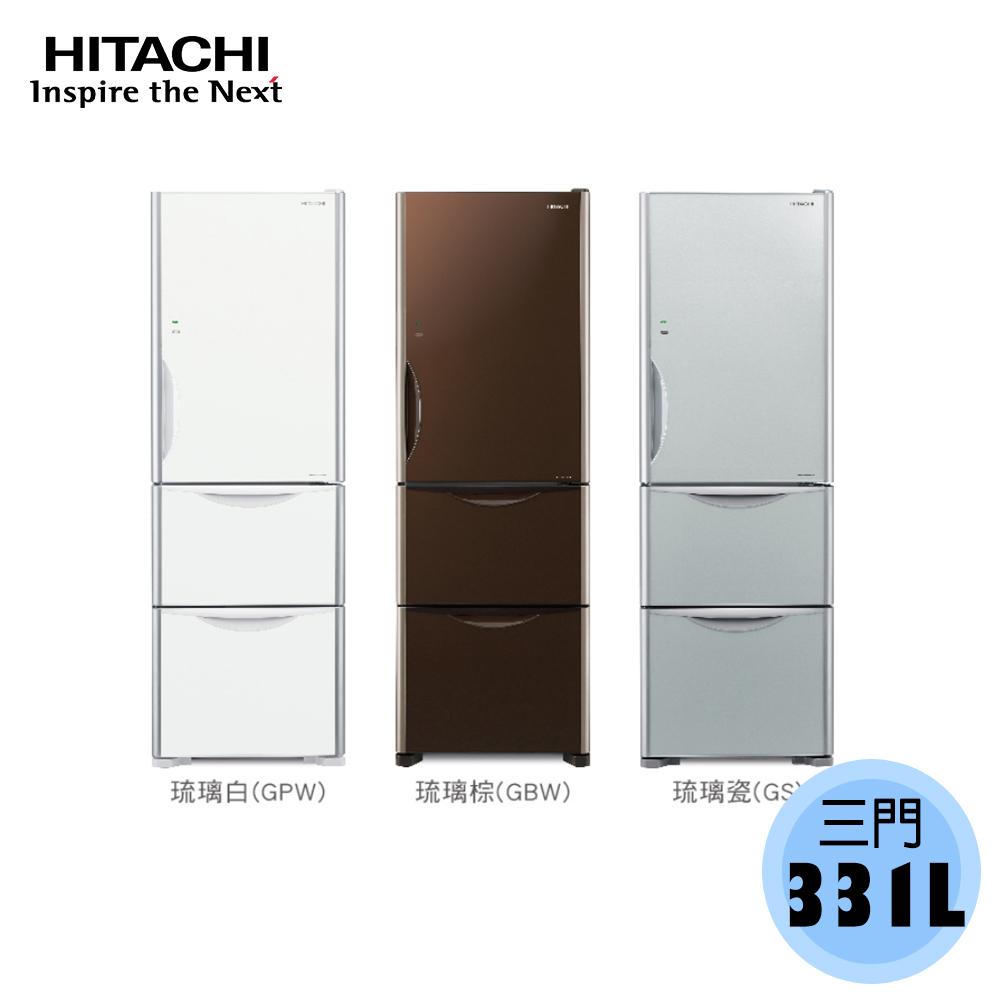 【HITACHI日立】331L 三門 變頻 電冰箱 RG36B