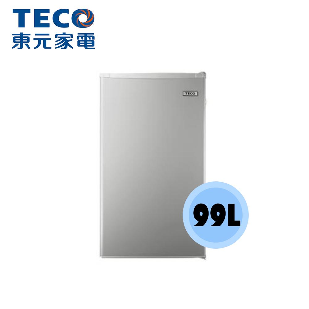 【TECO 東元】 99公升 單門小冰箱 R1092N(銀色 )