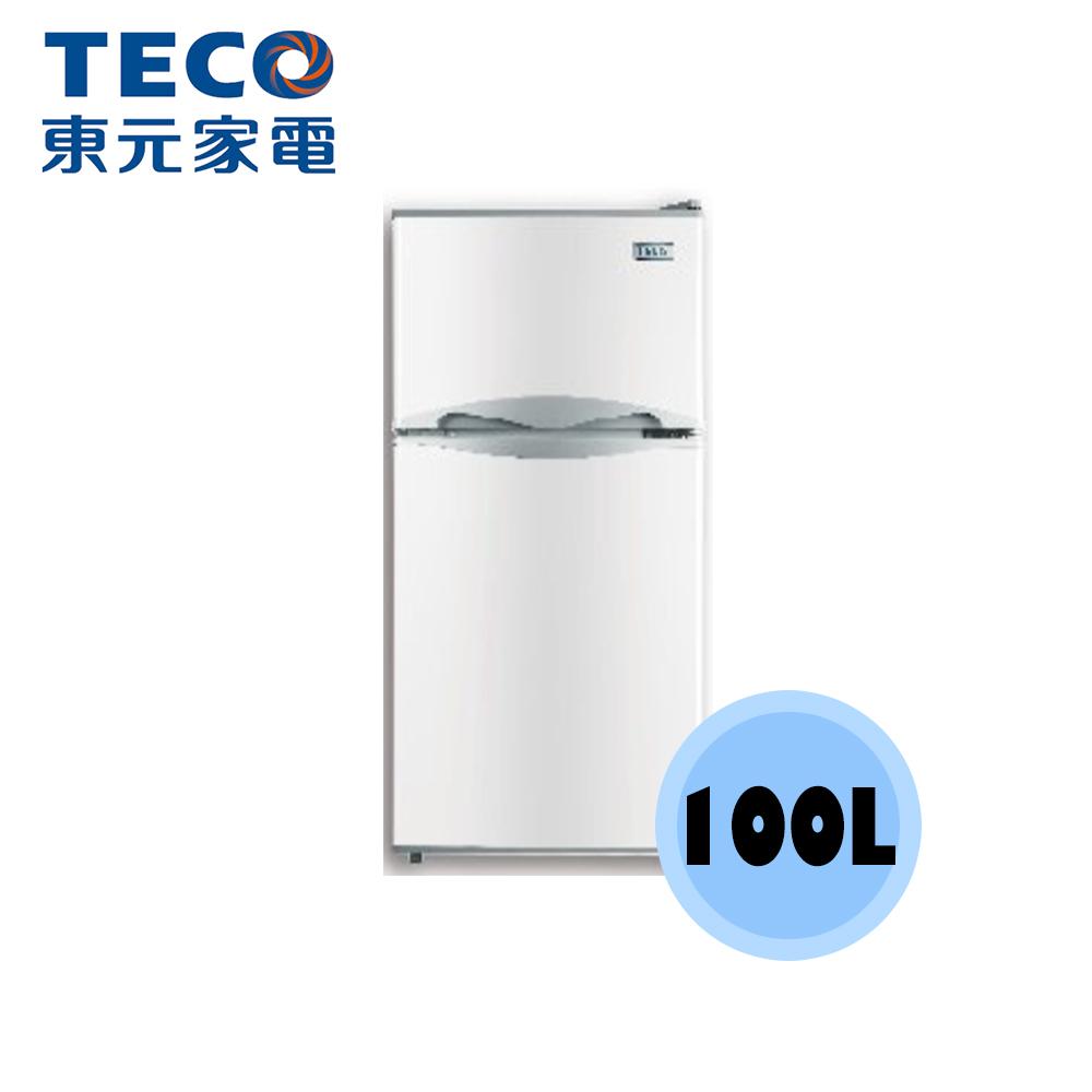 【TECO 東元】100公升 雙門 冰箱 R1001W